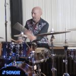 Steve Smith playing drums and Zildjian cymbals.